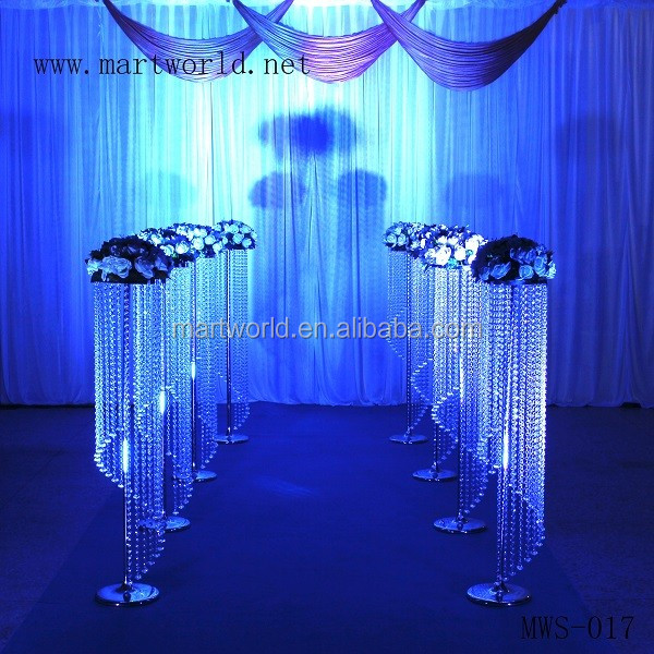 2018 wedding decoration crystal pillar wedding decoration walkway wedding decoration stand for party decoration (MWS-017)