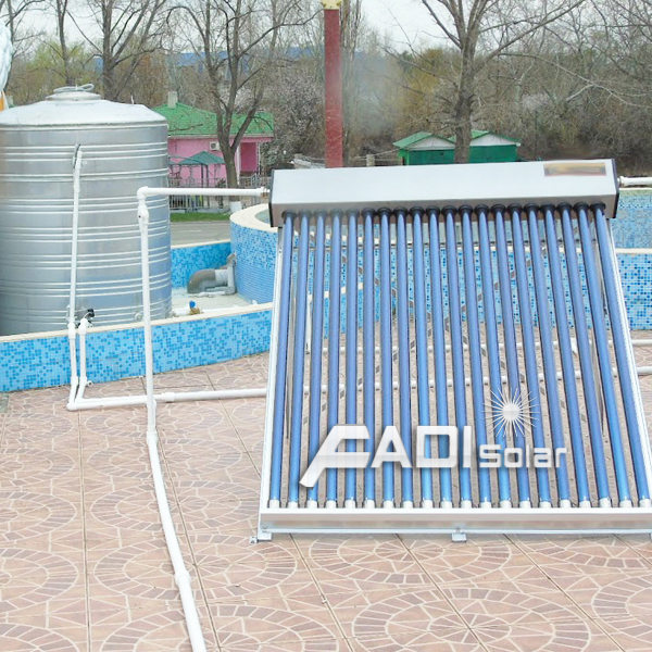 Solar Water Heater Project in Russia (20 tons)