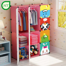 Portable small clothes hanger baby wardrobe cabinet
