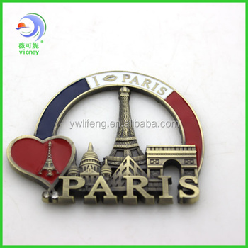 2014 Souvenir Paris Fridge Magnet