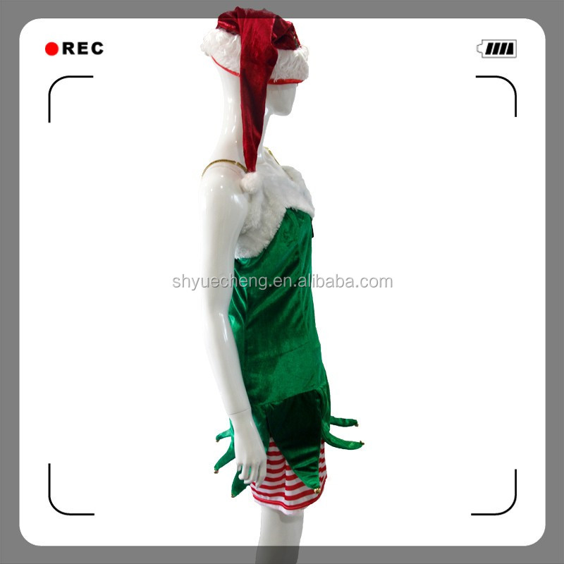 Sexy Christmas elf costume Christmas dance costumes for girls free adult movies costume