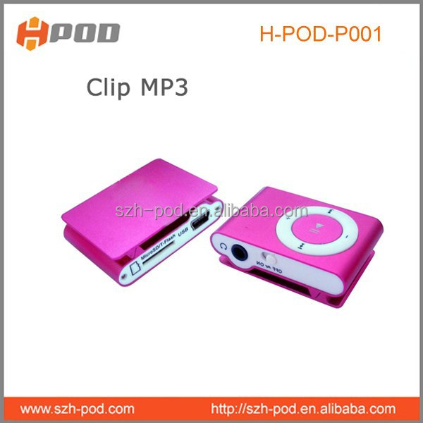 2015 New&Top selling metal clip gift mp3