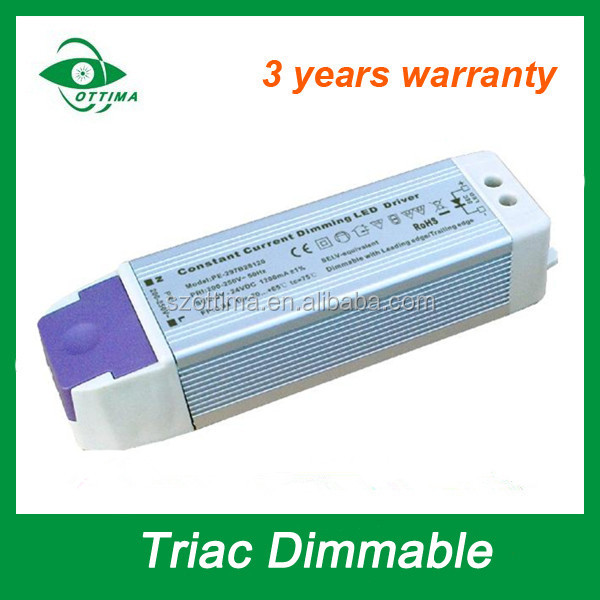 SAA CE approved 30w triac dimmable led driver voltage current 1200ma 650ma 400ma