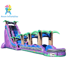 Purple paradise giant commercial grade inflatable water slides for adult sale