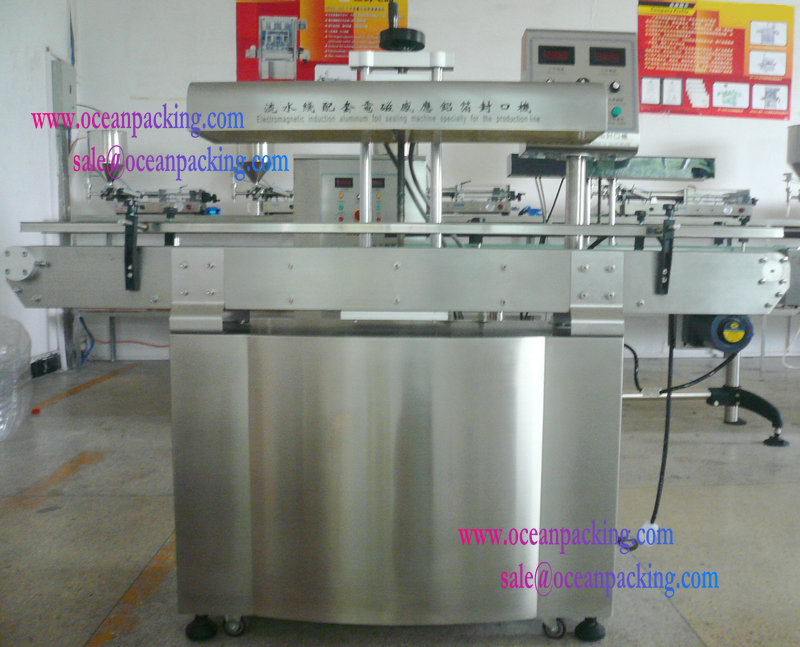 Electromagnetic induction aluminum foil automatic plastic container sealing machine for bottles