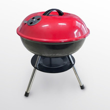 Portable easy assembly char boil BBQ grill round porcelain enamel compact charcoal outdoor& indoor barbecue grill