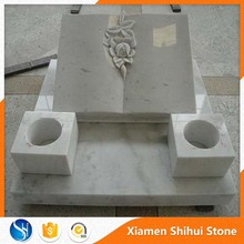 Stone White Bible headstone with factory price