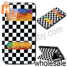 for Samsung Galaxy Note 3 Leather Case,Grid Pattern Flip Case for Samsung Galaxy Note 3 N9000 N9005 N9002