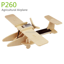 3D Wooden Puzzle Remote Control Aircraft Model DIY Solar Toy