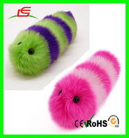 Plush Crawling Worm Furry High Quanlity Crystal Worm Soft Plush Toy