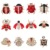 12 Pieces Mixed Crystal and Enameled Insect Bee and Ladybird Brooch Pins Sets for Women