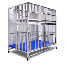 Pet products large dog house stainless steel dog cages crates