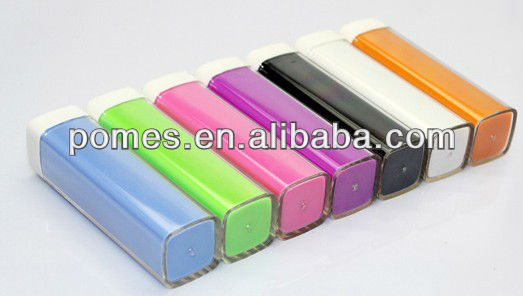 lipstick power bank 2600mah, mobile power supply