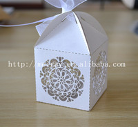 Elegant wedding accessories! Hot sale circle flowers cheap wedding cupcake favour box wedding supplies
