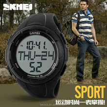SKMEI wholesale cute style pu strap pedormeter digital sports watch