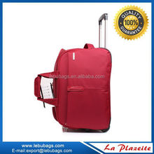 Polyester Material Rolling Duffel Bag With Trolley