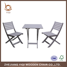 Wood Portable Folding Table and Chair Set