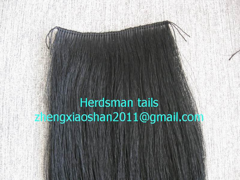 Rocking horse tail and mane weft