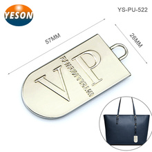 Handbag Hardware VIP Logo Embossed Hang Custom Made Metal Logo Charms