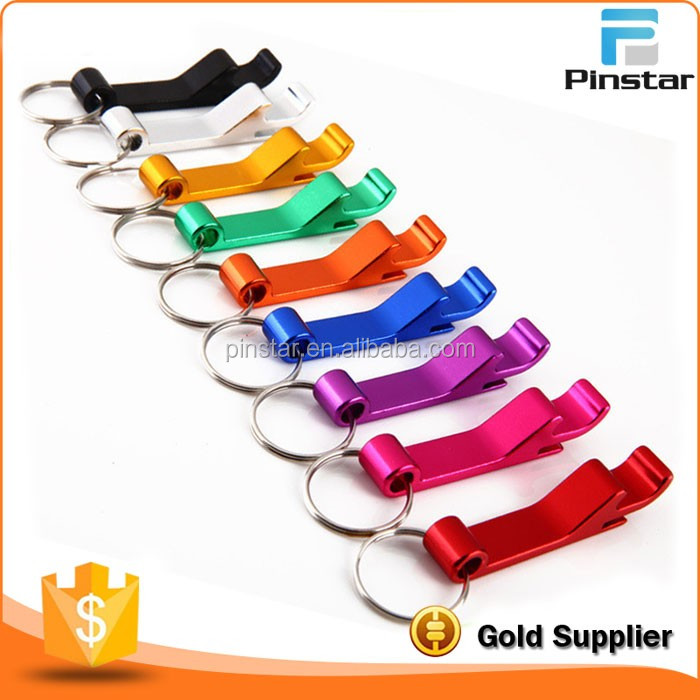 NO Minimum Quantity Laser Your Logo Colorful Beer Wine Bottle Opener Can Keychain Bottle Opener