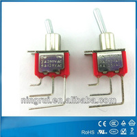 Top quality on-off/ on-off-on auto reset toggle switch with UL approval