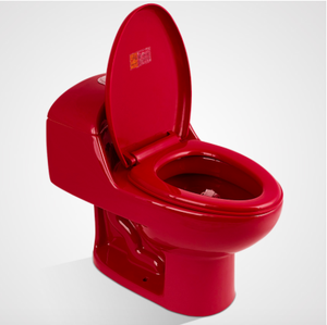 High quality red color one piece toilet
