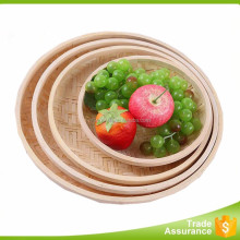 Factory direct-sell candy, fruit and vegetable bamboo weave basket/tray