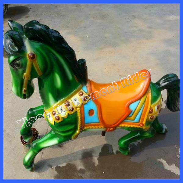 Electric fiberglass carousel horses for sale