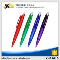 Top quality advertising Customized Plastic Ball Pen with clip for office