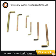 OUCHEN M6 wood thread white zinc plated L-type hook head screw