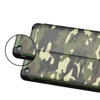 Newest design popular back cover tpu pu combo camouflage case for ipad mini4