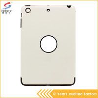 Discount flexible price low moq tpu pc soft white color case for ipad mini 2