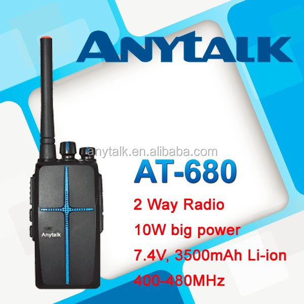 10W AT-680 UHF400-480Mhz high power output amateur radio