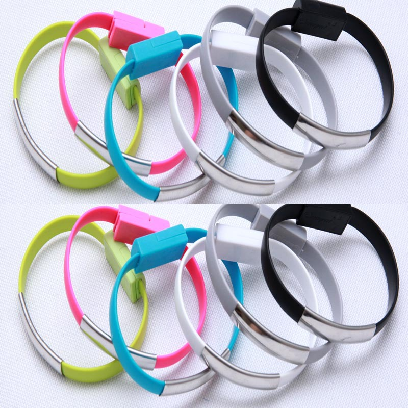 Colorful Micro USB 2.0 Data Sync Charging Wrist data cable For Android phone