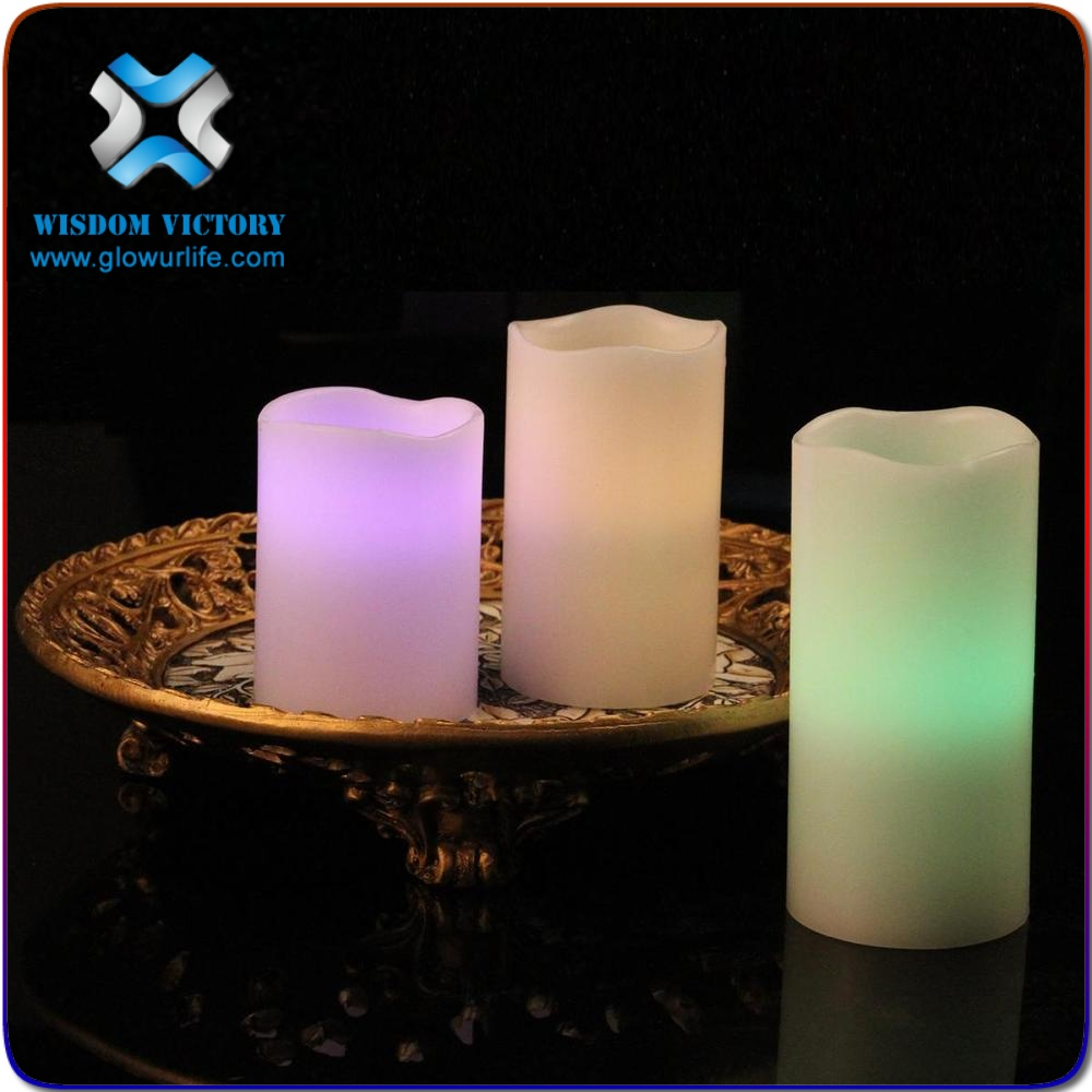 christmas Factory Direct real Paraffin Wax flameless led candle 3 sizes/set with remote control Quality Choice