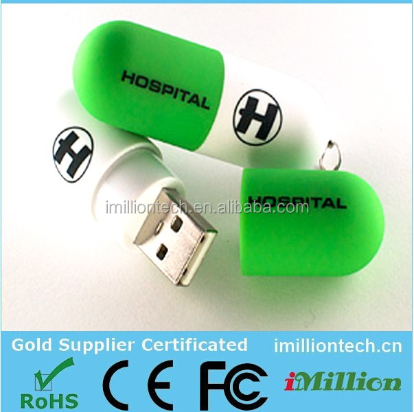 Medical Pill USB Flash Drives, Pill Shaped USB, USB Pill capsule 8gb