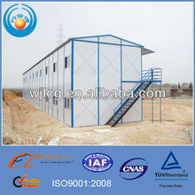 easy installation prefabricated house in the site for temporary living