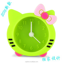 cat shape silicone analog alarm clock