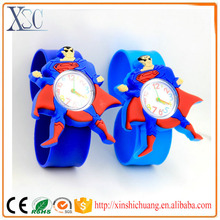 Wholesale famous cheap brand wrist watches women animal cartoon silicone slap watch