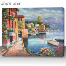 Wholesale Fine Art Seascape Painting Vintage Decor on Canvas