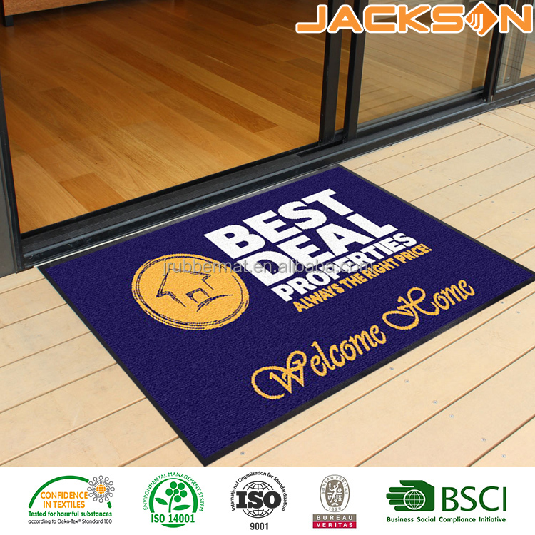 Professional advertising logo printed car floor mat with custom logo