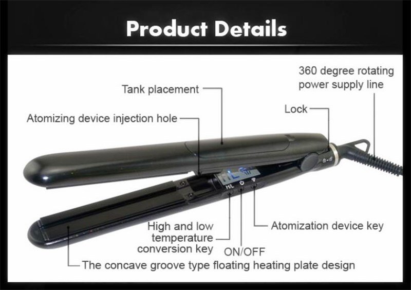 Professional 2017 New Arrival Best Price Steam Bright Color Professional Hair Straightener