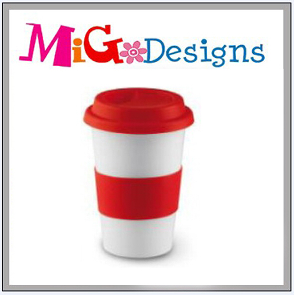 High Quality Factory Supplier Ceramic Red Coffee Tumbler