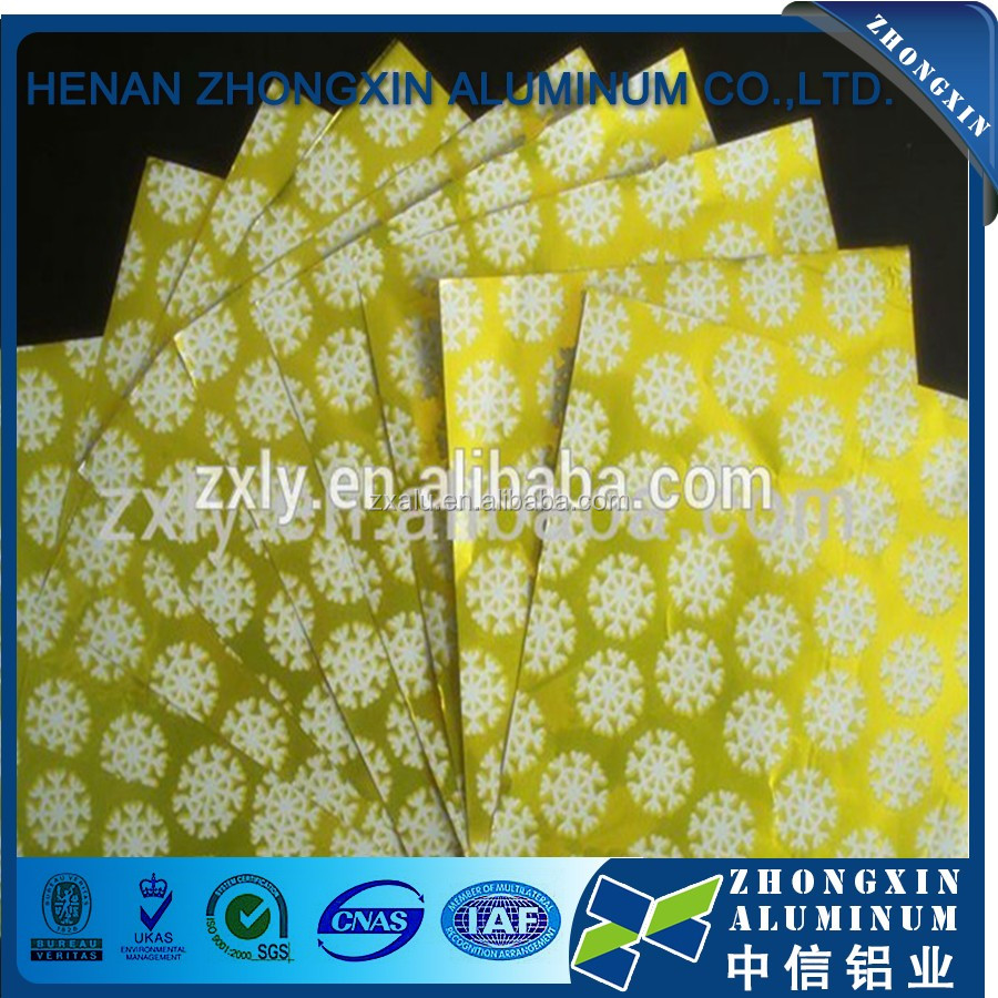 Superior quality aluminum foil laminated paper hot food/ butter/hamburger/ food wrap from Henan factory