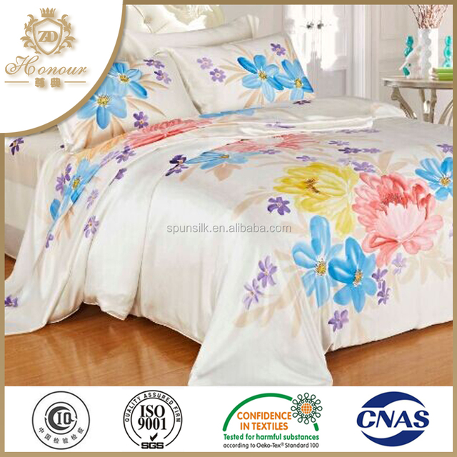 Pure 100% mulberry silk luxury hotel bedding set bed sheets duvet cover sets