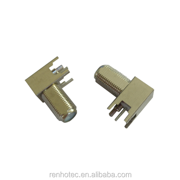 High Quality 90 Degree Right Angle R/A PCB Mount F Type Female Connector