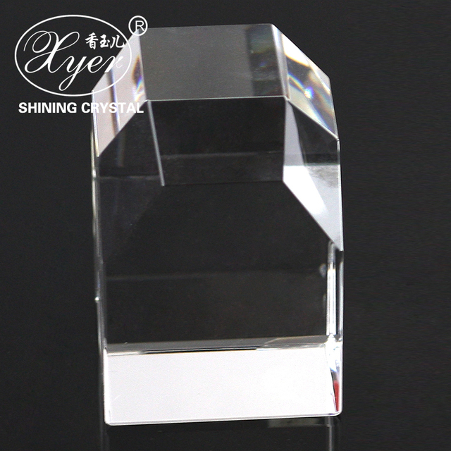 2017Fashion blank clear solid glass crystal plaque cube 3d laser crystal glass cube