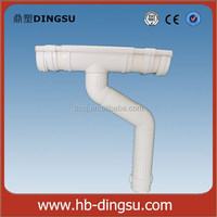 Factory 6inch pvc rain gutter and downpipes/gutter and fittings/half round pvc gutter
