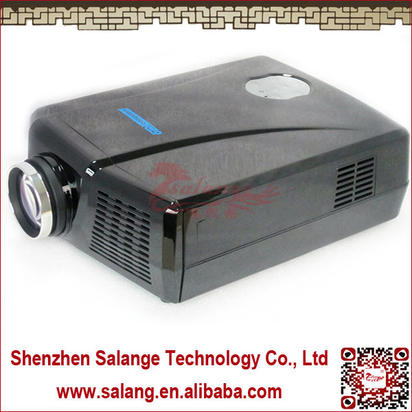 Factory Supply Quality !! Newest Hot Sale Real 2014 Full HD LED 3D 9 ball projector with High lumens LED Home Theater By Salange