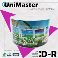Taiwan Quality products Inkjet Printable CDR 52X Discs / Free Samples